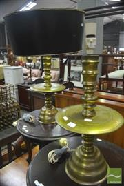 Sale 8323 - Lot 1043 - Pair of Brass Table Lamps