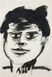 Sale 8466A - Lot 5009 - Anne Hall (1946 - ) (2 works) - Portraits (Him & Him) 56 x 38cm, each (sheet size)