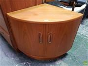 Sale 8566 - Lot 1065 - Small G-Plan Teak Corner Unit