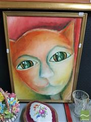 Sale 8548 - Lot 2110 - Artist Unknown, Untitled (vision in my eyes), Oil, 57x42cm