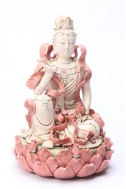 Sale 8670 - Lot 258 - Potted Figure of Guanyin (H 27cm)