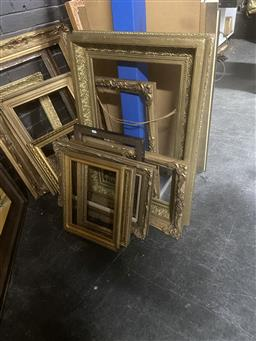 Sale 9123 - Lot 2048 - A good selection of Gilt and Timber Frames incl. antique examples -