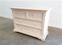 Sale 9126 - Lot 1282 - Painted chest of 4 drawers (h87 x w121 x d50cm)