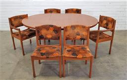 Sale 9171 - Lot 1007 - Chiswell 7 piece dining setting incl. 6 chairs (h79 x d57cm) & extension table (h:73 x l:119 / 168 x w:79cm)