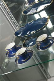 Sale 7874 - Lot 29 - Carlton Ware Blue & Gilt Part Coffee Set & 2 Dishes