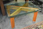 Sale 8124 - Lot 1093 - Glass Top Coffee Table By Katalog
