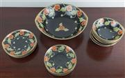 Sale 8435A - Lot 34 - A Japanese fruit service for 6 with poppy design