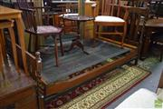 Sale 8566 - Lot 1515 - Single Spring Bed with Barley Twist Supports ( 112 x  91 x 203.5)