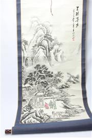 Sale 8670 - Lot 158 - Chinese Scroll Depicting Mountains and Trees