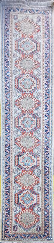 Sale 8740 - Lot 1565 - Pakistani / Indian Wool Runner with Caucasian Pattern