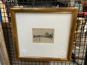 Sale 8927 - Lot 2059 - Victor Cobb - Wilson Hall, Melbourne Universityetching, 32  x 35cm (frame)