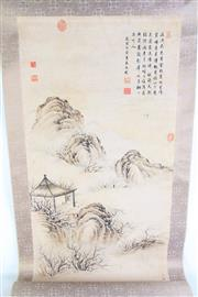 Sale 8985 - Lot 58 - A Hut among Mountain Chinese Scroll L:147cm