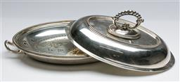 Sale 9168 - Lot 412 - A silver plated lidded serving tray (W 28cm)