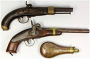 Sale 8065 - Lot 36 - Flintlock Converted Percussion Pistol & Another