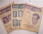Sale 8404S - Lot 30 - 1956 Rugby League News Programmes - Vol. 37, Nos. 23 & 28, together with 1957 Vol. 38, No. 26