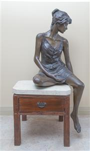 Sale 8489A - Lot 8 - Judith Holmes Drewry, Sculptor, 1950-2011 - Charly, 1987 H 150cm
