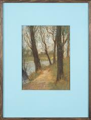 Sale 8549 - Lot 590 - Attributed to Mabel (May) Grigg (1885 - 1969) - Looking the Trees 31 x 23cm