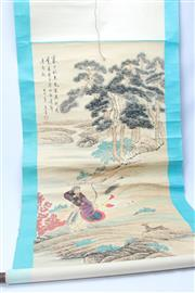 Sale 8670 - Lot 157 - Chinese Scroll Depicting An Archer on Horse Back