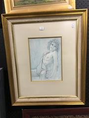 Sale 8726 - Lot 2058 - Unknown Artist - Three Original Nude Studies, framed various sizes