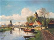 Sale 8892A - Lot 5053 - H Martens (early C20th) - Dutch Country Scene 59 x 78.5 cm