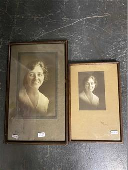 Sale 9176 - Lot 2123 - Pair of original portrait photographs by May Moore (1881-1931), each signed