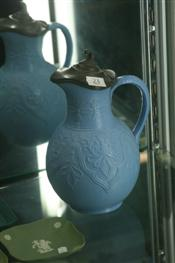 Sale 7874 - Lot 23 - Victorian William Brownfield Lidded Pottery Jug C1875