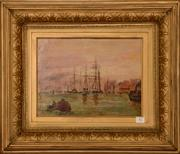Sale 8107B - Lot 82 - British school - shipping scene - oil on canvas signed and dated 1879 Size: 26 x 35 cm