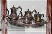 Sale 8160 - Lot 97 - Silver Plated Tray with Others Incl Dish and Jugs