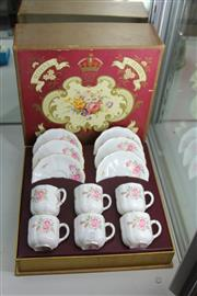 Sale 8283 - Lot 77 - Royal Crown Derby Boxed Coffee Setting for 6