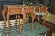 Sale 8331 - Lot 1573 - Set of Three Maple Plant Stands