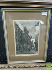 Sale 8544 - Lot 2039 - Framed Engraving of Samuel Johnson Dr Johnsons House in the Temple
