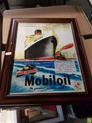 Sale 8563T - Lot 2130 - Mobil Oil Advertisement Framed Picture