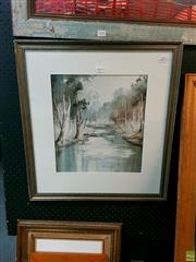 Sale 8582 - Lot 2059 - Patrick Shirvington River Watercolour