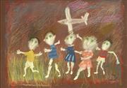Sale 8755A - Lot 5039 - Geoffrey Proud (1946 - ) - Spooky Green Children, 2000 49 x 69cm