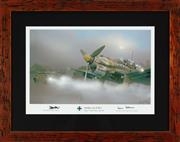 Sale 8868H - Lot 67 - Ron Cole, Limited edition print of JU-87R-2 -stG2 Tmimi Libya July 1941 signed by two WWII JU87 pilots (Hubert & Hans) total frame s...