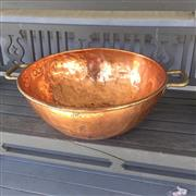 Sale 8878T - Lot 29 - Very Large English Copper Marmalade Pan Diameter - 52cm Height - 24cm