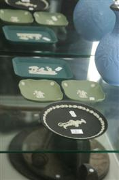 Sale 7874 - Lot 24 - Wedgwood Black Jasper Americas Cup Plate & Other Coloured Jasper Wares