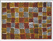 Sale 8250A - Lot 552 - Freda Warlapinni (1928 - 2004) - Pwoja-Pukamani Body Paint Design, 2002 56 x 76cm (framed & ready to hang)