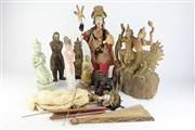 Sale 8393 - Lot 13 - Asian Puppets with Religious Wares incl Buddhist