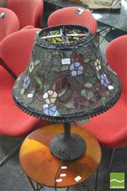 Sale 8406 - Lot 1073 - Leadlight Shade Table Lamp