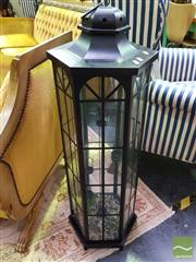 Sale 8545 - Lot 1016 - Modern Metal Lantern Style Tea Light Holder