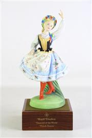 Sale 8935 - Lot 89 - Royal Doulton Figure of a Polish Dancer from the series Dancers of the world HN2836, Limited ed. no. 69 of 750, on stand and cased