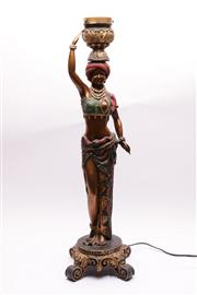 Sale 9044 - Lot 30 - Table Lamp in the Form of a Dancer (H:82cm)