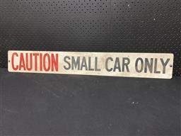 Sale 9188 - Lot 1026 - Small car only metal sign (h:13 x w:92cm)