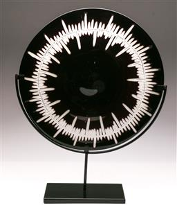 Sale 9107 - Lot 77 - A Decorative Glass Mounted Display Plate (Dia 44cm)