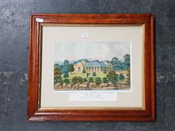 Sale 9127 - Lot 2019 - Joseph Lycett View of Captain Pipers Naval Villa 1825