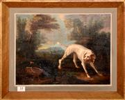 Sale 8107B - Lot 14 - French School - Hunting scene circle of Jean Baptiste Oudry 1686 - 1755 oil on panel  Size: 27 x 35 cm