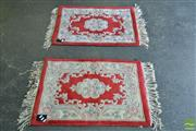 Sale 8515 - Lot 1040 - Pair of Machine Made Door Mats (92 x 62cm)