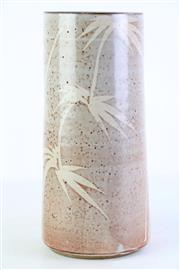 Sale 8849P - Lot 661 - Cylindrical Shaped Studio Potted Bamboo Vase H:30cm