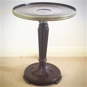 Sale 8878T - Lot 31 - Art Deco Bakelite Circular Side Table with Metal Mounts Height - 54cm
